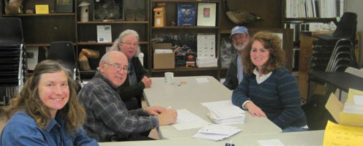 Office volunteers at the NRWA – Photo by Kathryn Nelson