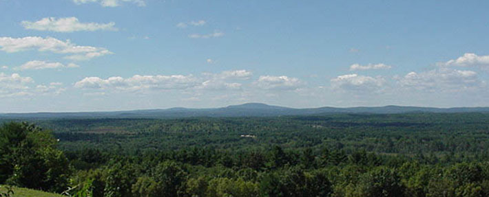 View of much of the Central Nashua River Valley ACEC from Prospect Hill in Harvard, MA - Photo by Kristopher Kvenvold
