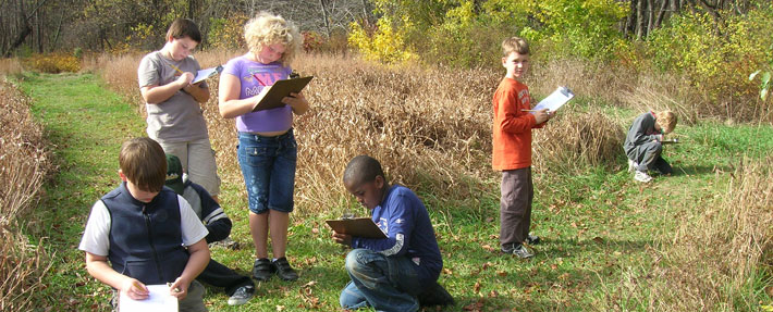 Planning a nature trail with NRWA's Scientist in Residence