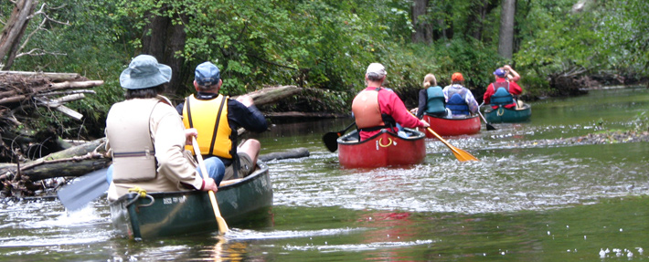 Paddling the Squannacook river - photo by Nancy Ohringer