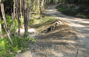 Siltation of streambed caused be erosion from storm runoff - Photo from Townsend Conservation Commission
