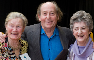 Judy Larter, Paul Matisse, and Lucy Wallace, current and past NRWA presidents - photo by Bob Lotz.