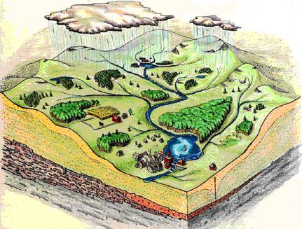 What is a watershed? – Graphic by Jim Taylor, MA Dept. of Conservation and Recreation
