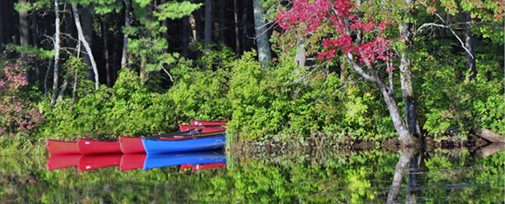 Canoes on the Squannacook River – Photo by Nancy Ohringer
