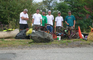 Volunteers help to clean up Mine Falls Park in Nashua NH