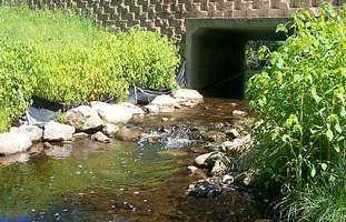 Culvert on brook in Fitchburg, MA