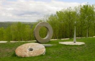 Outdoor sculptures at the Andres Institute of Art