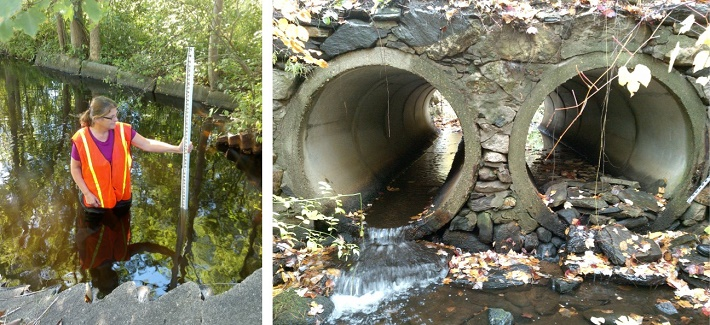 NRWA staff assess culverts for wildlife passage and climate resiliency under MET grant